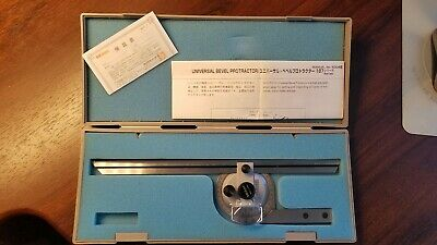 Mitutoyo 187-906 Universal Bevel Protractor Set (flawless, never used, mint)