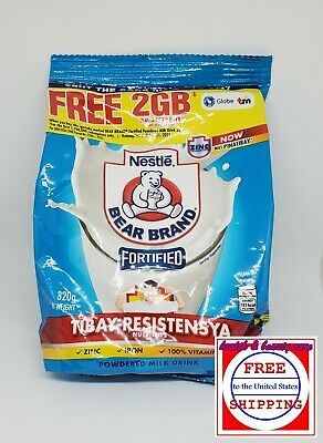 Bear Brand Fortified Powdered Milk  350 grams (320 +30 grams)  FREE SHIPPING