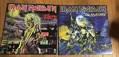 Iron Maiden Killers And Life After Death Albums  Amazing condition 81/85