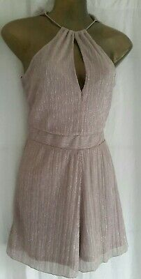Playsuit size 12. Sparkly Light Pink Miss Selfridge.