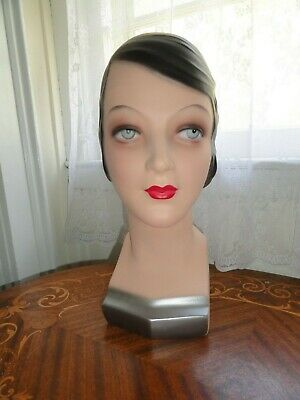 Decoeyes Mannequin Head/Bust 1920's Style Store Hat Jewelry Display NICOLE