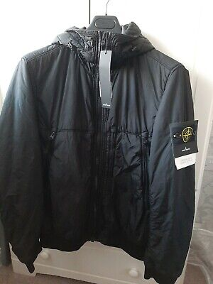 STONE ISLAND GARMENT DYED CRINKLE REPS NY PIPING HOODED JACKET Large