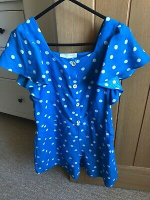 Girls Zara Spot Playsuit Age 11/12