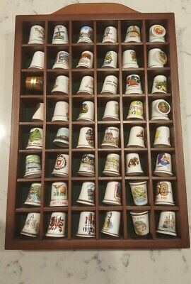 Thimble Collection X 48. Includes Wooden Display Rack.