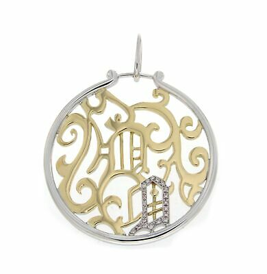 Versace VERSACE PENDANT IN YELLOW AND WHITE GOLD 18K J846