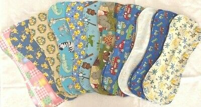 Burping cloth, soft and absorbent with toweling backing