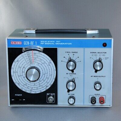 EMCO Solid State FET RF Signal Generator GEN-RF 1 - Great Working Instrument!