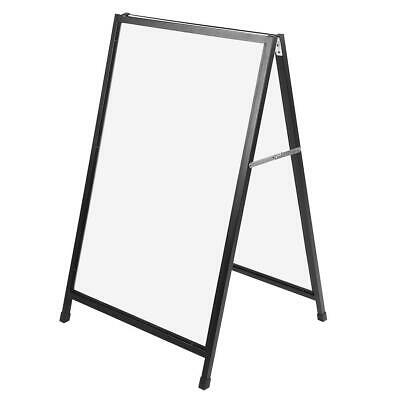 Heavy Duty A Frame Advertising Sign Board Double Side Poster Iron Stand US Stock