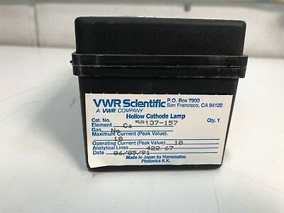 VWR SCIENTIFIC Hollow Cathode Lamp Ca Ne 58137-157