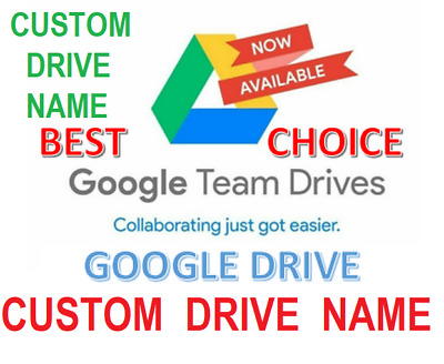 Unlimited Google Drive Storage/ CUSTOM DRIVE NAME (For Your Existing Gmail)