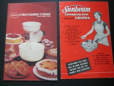 Sunbeam 53' Frypan & Mixmaster Booklet,