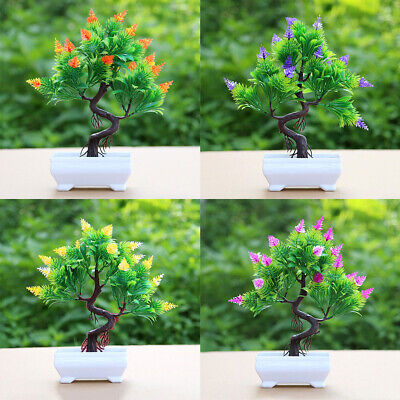 DI- HO_ Artificial Flower Pine Tree Potted Bonsai Party Shop Hotel Desktop Offic