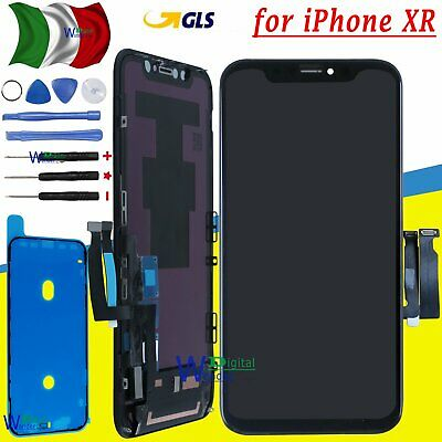 Display Schermo Per Apple Iphone Xr Vetro Lcd + Touch + Frame Screen Nero Gls