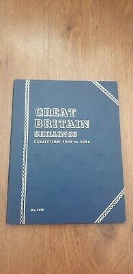 Great Britain Shillings 1902-1936 Whitman Folder Coin Collection 65%
