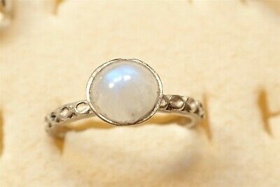 Grandmas Estate 925 Sterling Silver Old Pawn Moonstone Ring