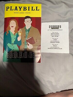 Rare! Beetlejuice Broadway Musical SPECIAL March 2020 Playbill Understudy Slip