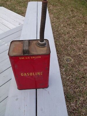 Vintage EMPIRE Oil and Chemical Co. 1 Gallon Metal Gas Can w/ Flex Metal Spout