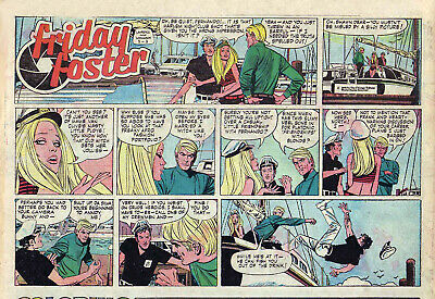 Friday Foster by Longaron - scarce full color Sunday comic page - May 3, 1970