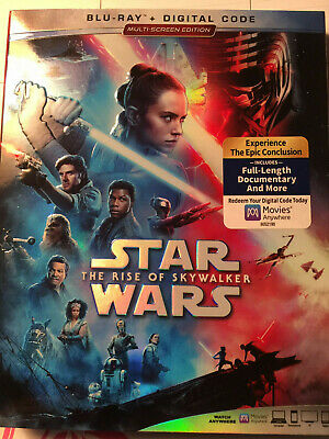 Star Wars The Rise of Skywalker Blu-Ray Digital Slipcover NEW & Ducumentary