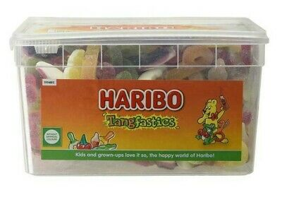 Haribo Tangfastics Sour Tub Party Mix Candy Retro Jelly Sweets Pack 1.75Kg NEW