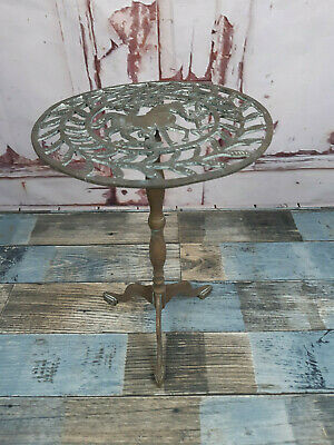 Vintage Antique Solid Brass Horse Trivet Plant Pot Planter Stand Side Table