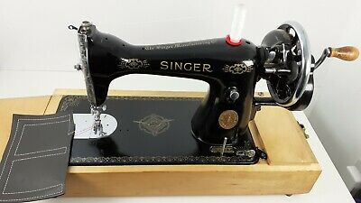 Semi-Industrial Singer 15K Handcrank Sewing Machine, NEWLY SERVICED,sews LEATHER