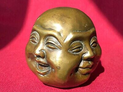 Antique Bronze Four Faced BUDDHA - Early 20th Century - Great Patina