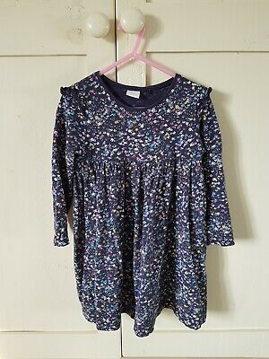 Next Girls Navy Ditsy Floral Dress Age 3-4 Years