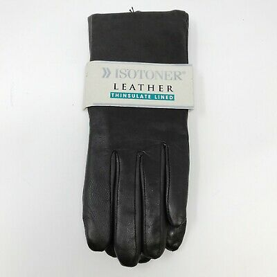 New Isotoner Brown W omens Leather Gloves With Thinsulate Liner