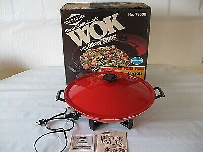 Vtg West Bend  Electric Wok Model 79506 Nice!!