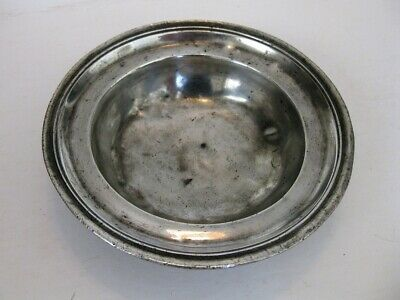 A Very Rare Pewter Bleeding Bowl Without Handle By Boicervoise, Circa 1760
