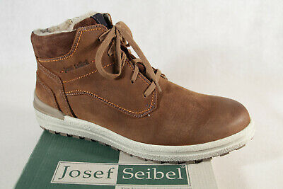 Josef Seibel Stanley 02 Cognac Mens Real Leather Ankle Boots Lace Up Smart