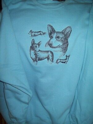 Cardigan Welsh Corgi Sketch Personalized Sweatshirt  Embroidered ALL SIZES