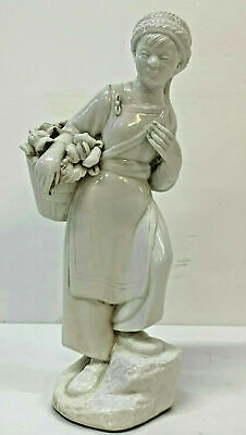 Chinese Political Figure White porcelain vintage Woman Peasant Worker revolution