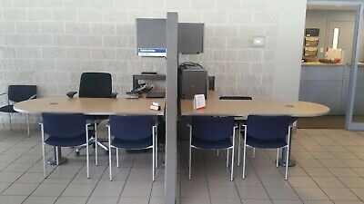 Herman Miller Desk Partition System Office Furniture 2 Workstations In One Unit!