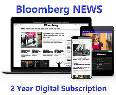 Bloomberg News 2-Year Online Subscription PC Iphone/Android Tablet Unrestricted