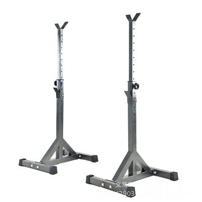 Squat Rack Weight Bench Rack Barbell Support Height Adjustable Fitness Equipment