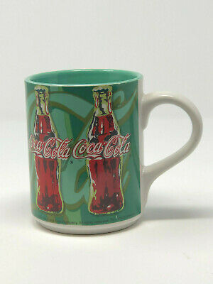 1998 Coca Cola Green Coffee Mug Cup Licensed Product Vintage Gibson