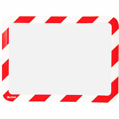 Tarifold Magneto Magnetic Safety Sign Display Pockets 2-Pack Red/White 10inx12in