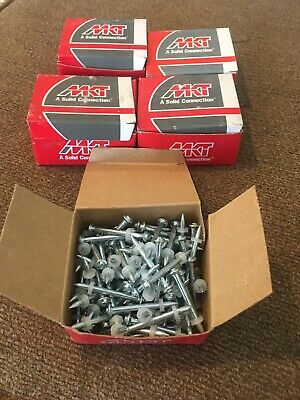 """MKT FASTENING DH150 8mm Head Drive Pin, 1 1/2"""" (42mm) 5- 100 Count Boxes."""