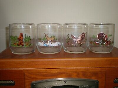 Sunoco - Endangered Wildlife Drinking Glasses - Set of 4 - Pre-owned