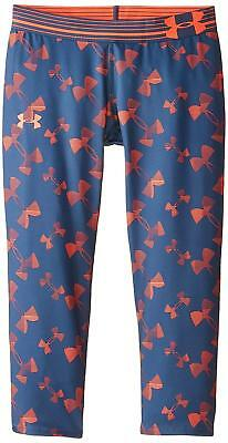 Under Armour Girls Heatgear Armour Printed Capri Tights Youth Small