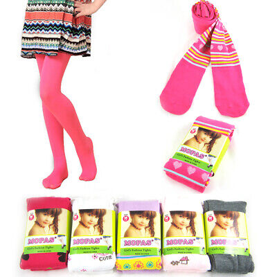 3 Pairs Girls Baby Tights Pantyhose Small 1-3 Years Hosiery Stockings Opaque !!