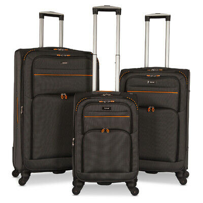 """Set of 3 Luggage Set Travel Bag Trolley Spinner Carry On Suitcase 20"""" 27"""" 31"""""""