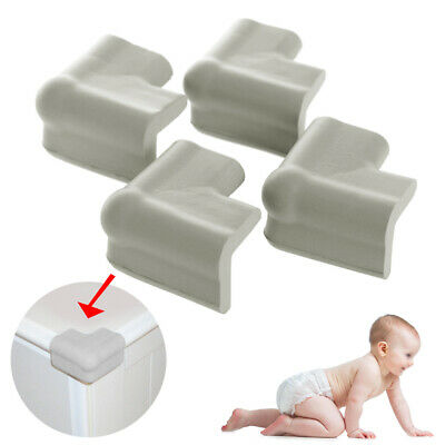 4PC Baby Proofing Table Corner Bumpers Soft Foam Protector Furniture Edge Safety