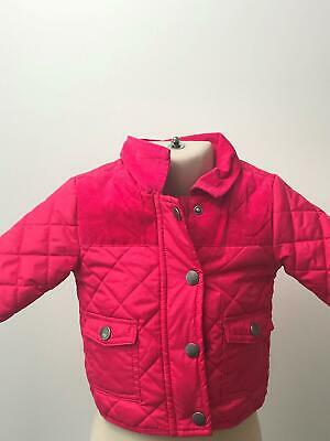 Girls Next Pink Quilted Lightweight Coat Jacket Kids Age 3-6 Month