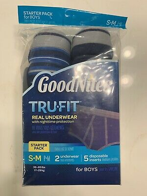 Goodnites TRU-FIT Underwear Nighttime Protection Starter Pack BOYS S/M