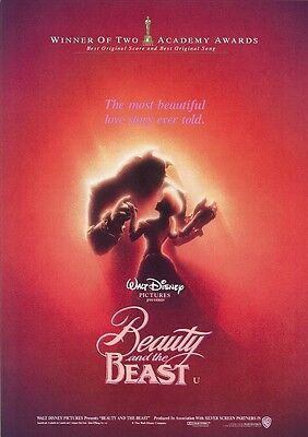 Walt Disney's Beauty and the Beast movie poster print  :  11 x 17 inches (a)