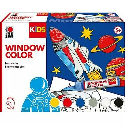 Neu Marabu KIDS Window Color Set  WELTALL, 6 x 25 ml