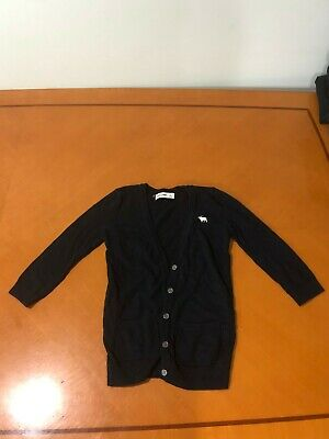 Girls Kids Abercrombie & Fitch Black Cardigan w Buttons Sweater Size Large 10